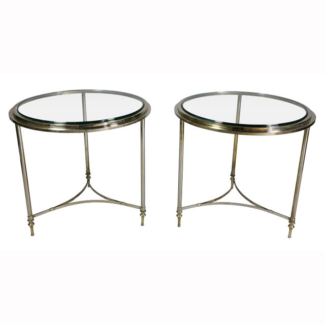 Metal Modern Chrome End Tables - a Pair For Sale - Image 7 of 7