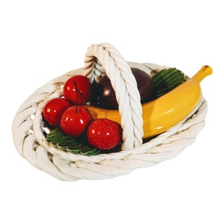 Vintage Italian Fruit Basket For Sale
