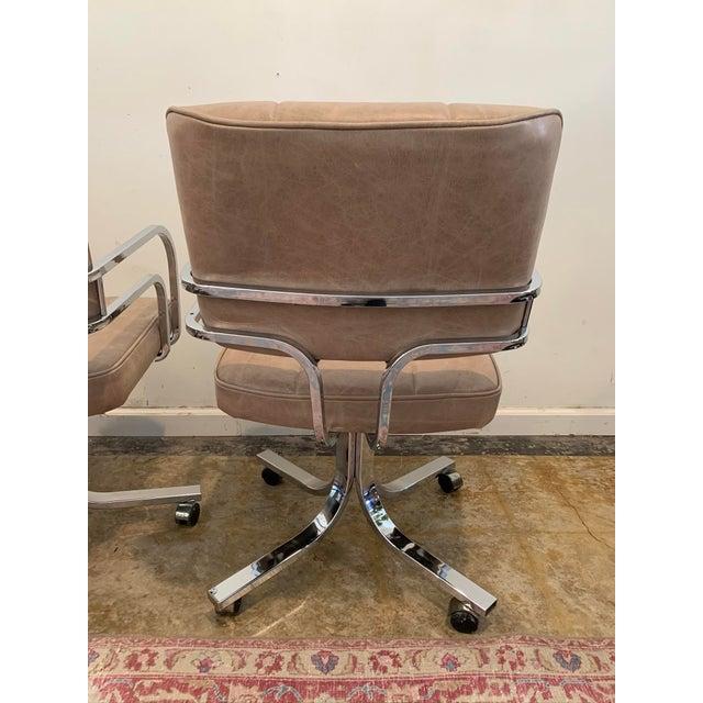 1980s 1980s Swivel Rocker Desk Chair For Sale - Image 5 of 11