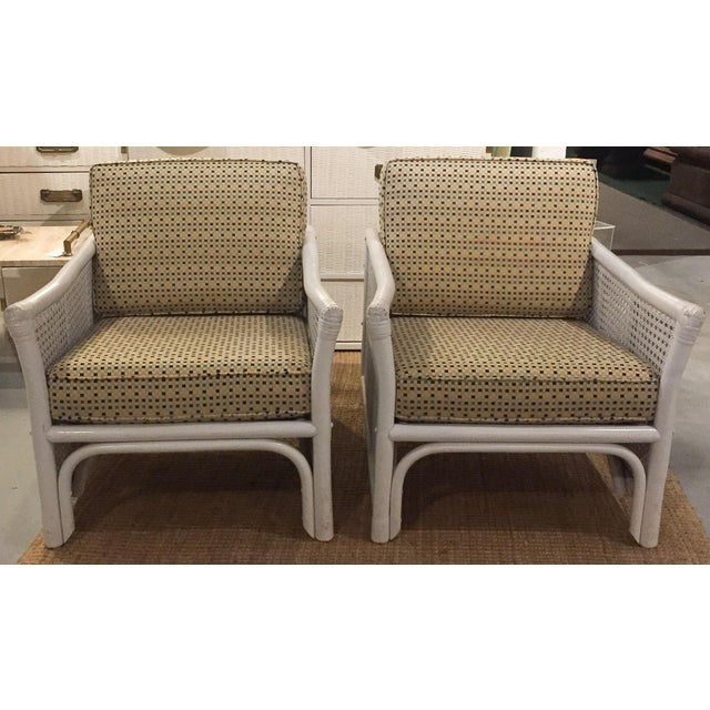 Ficks Reed Mid Century Bamboo & Caned Lounge Chairs - a Pair - Image 4 of 9