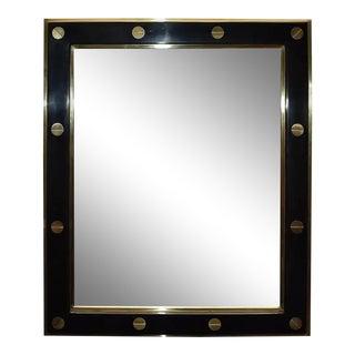 "Parchment ""Gucci"" Style Design Mirror For Sale"