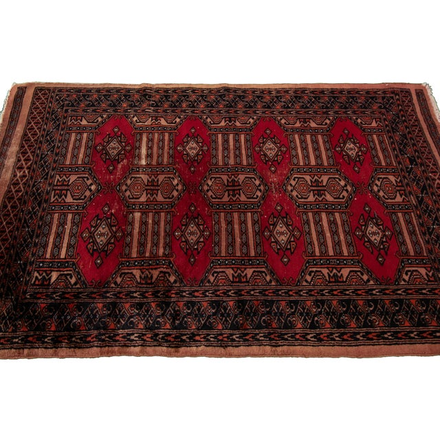 """Textile Vintage Persian Rug, 3'02"""" X 4'10"""" For Sale - Image 7 of 8"""