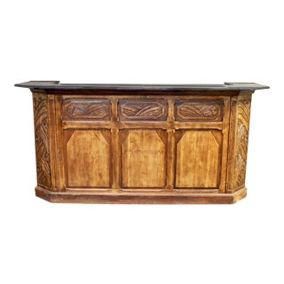 Antique Art Deco Marble Top Dry Bar For Sale