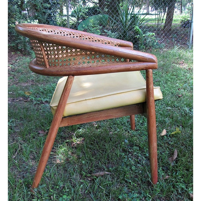 1960s James Mont Cane Back Chairs - Set of 4 - Image 4 of 10