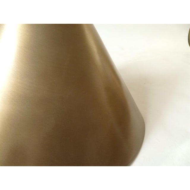 Vintage Brushed Gold Cone Hanging Light - Image 4 of 4