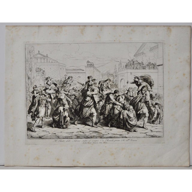 "Bartolomeo Pinelli Engraving ""The Sabine Rats Under the Rein of Romulus"" c.1816 - Image 2 of 8"