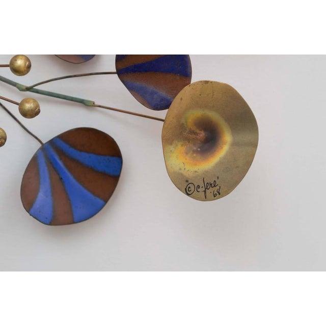 Modern Curtis Jere Brass Leaf Sculpture For Sale - Image 3 of 7