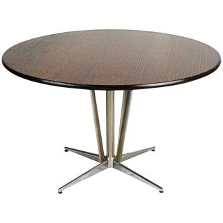 1960s Hand-Hammered Copper Top Circular Dining Table For Sale
