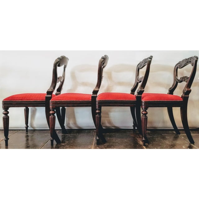 Gillows of Lancaster Set of Four Georgian / Regency / William IV / Victorian Rosewood Chairs Attributed to Gillows of Lancaster For Sale - Image 4 of 10