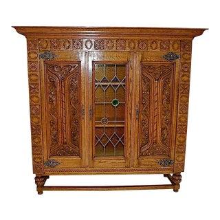 French Oak Bookcase/Vitrine For Sale
