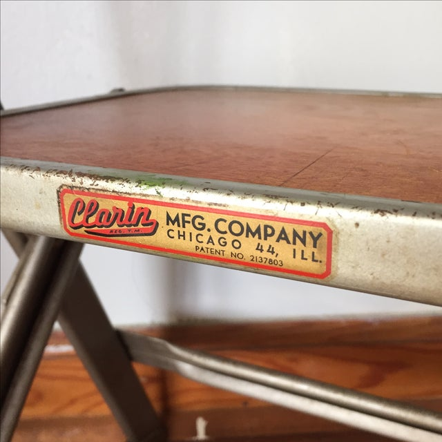 Vintage Metal School Photo Child's Chair For Sale - Image 5 of 8