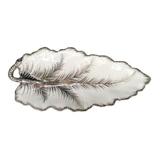 Plate - Italian 20th Century Leaf Plate For Sale