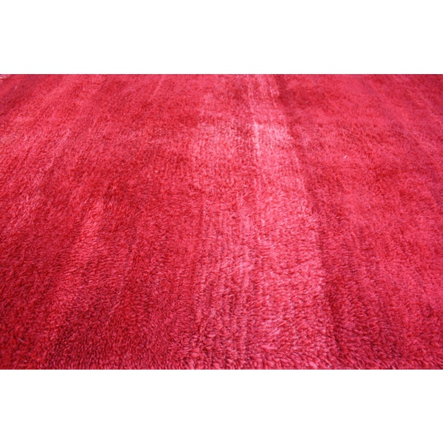 Moroccan Red Wool Rug - 10'5'' X 6' - Image 2 of 3
