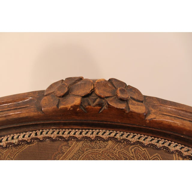 Vintage French Carved Ladies Fauteuil Arm Chair - Image 11 of 11