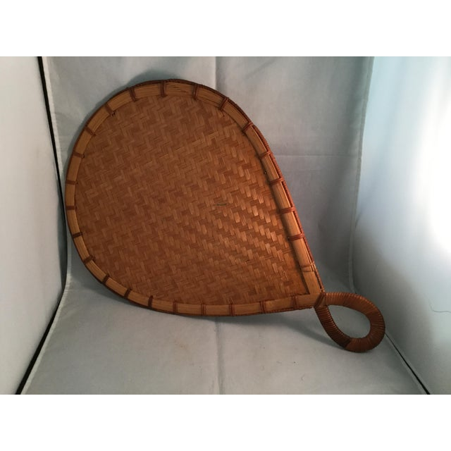 Natural Bamboo Japanese Fan For Sale - Image 4 of 6