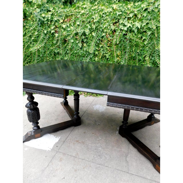 Antique Spanish Revival Carved Dining Table For Sale - Image 11 of 12