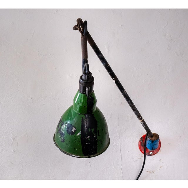 Vintage French Industrial Wall Lamp 1930s For Sale - Image 13 of 13