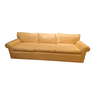 1980s Mike Bell Adelphi Three Seat Sofa in Cream Silk For Sale