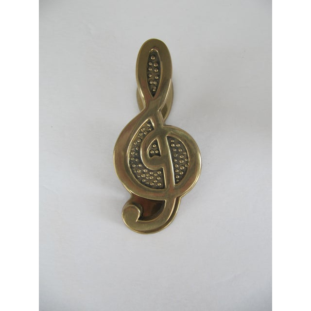 Brass Treble Clef Paper Clip - Image 5 of 7