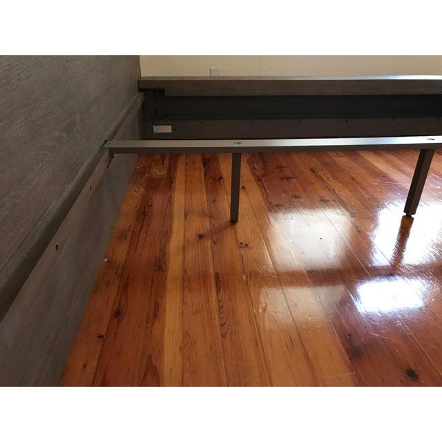 Van Thiels for Restoration Hardware Oak King Machinto Bed For Sale - Image 9 of 11