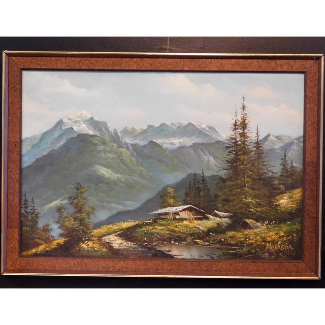 American Mid 20th Century Mountain Landscape Oil Painting, Framed For Sale - Image 3 of 6
