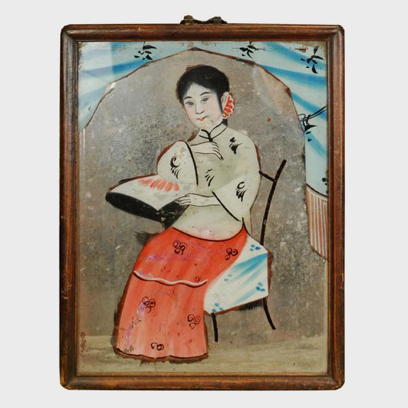 Chinese Reverse Glass Painting For Sale - Image 4 of 4