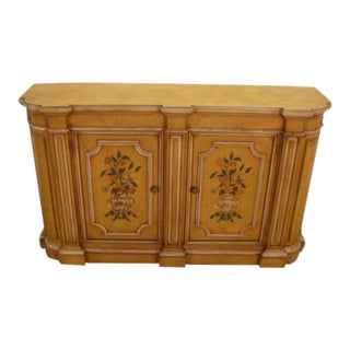Henredon Paint Decorated Console Cabinet For Sale