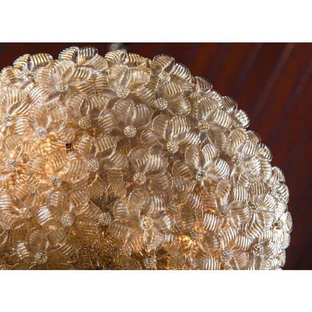 Barovier & Toso Italian Barovier & Toso Murano Glass Surface Mount Ceiling Chandelier/Light For Sale - Image 4 of 11