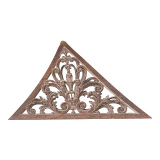 18th Century Swedish Carved Stairwell Ornament For Sale