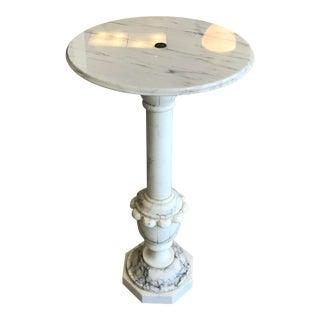 Italian Carrara Marble Pedestal/Plant Stand