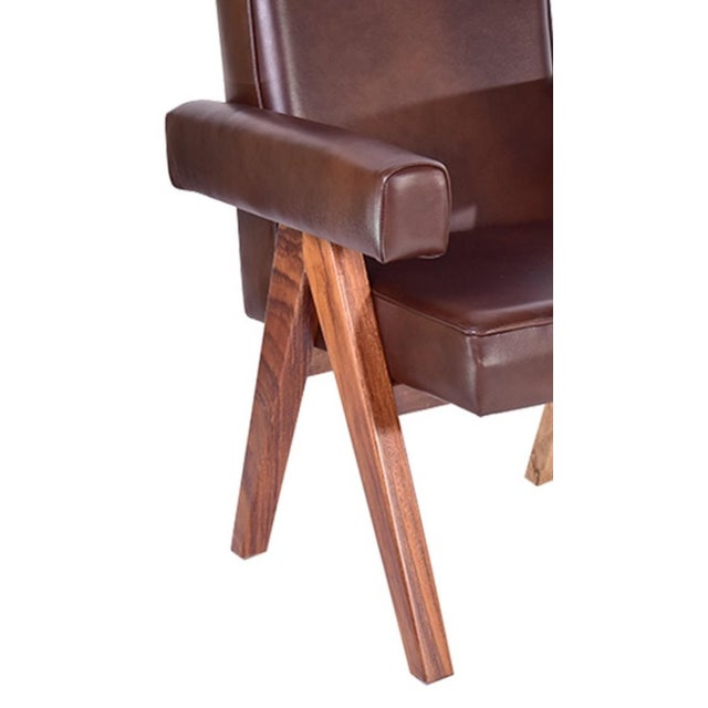 Mid-Century Modern Inspire Leather Dining Chair - Image 3 of 3
