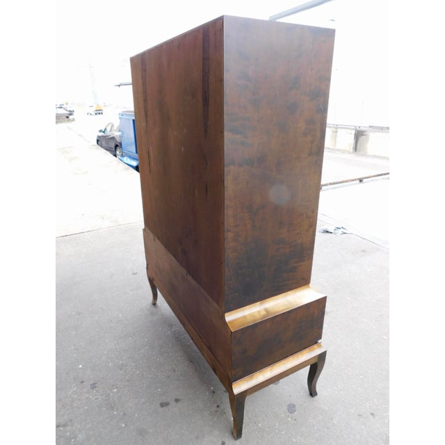 Gold 1920s Swedish Art Deco Inlaid Armoire For Sale - Image 8 of 13