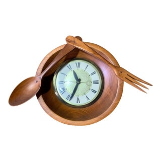 Mid Century Modern Lanshire Kitchen Clock For Sale