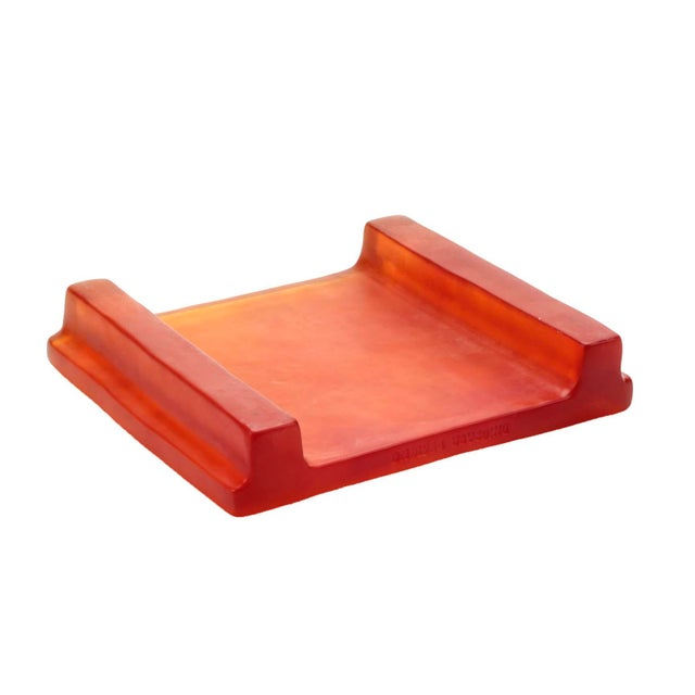 Modern Dinosaur Designs Amber Resin Cheese Platter / Tray For Sale - Image 3 of 5