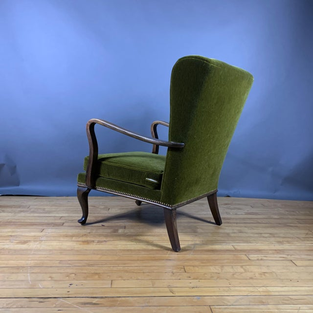 1950s Walter Knoll Mini Wingchair, Mohair, Germany For Sale - Image 10 of 12