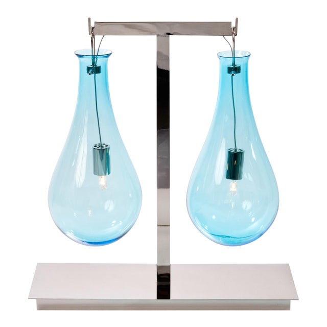 Veronese Drop Double Light Table Lamp For Sale