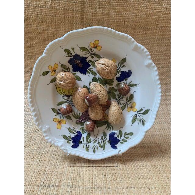 Tan 1970s Este Ceramiche Italy Trompe l'Oleil Plate For Sale - Image 8 of 8