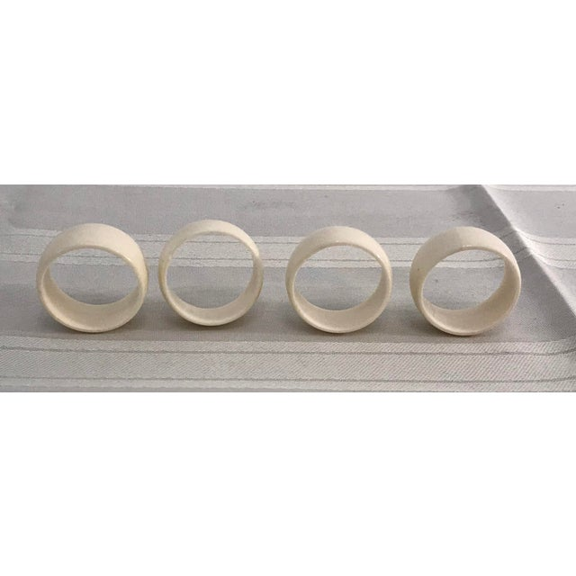 Cream Colored Vintage Napkin Rings - Set of 4 For Sale - Image 4 of 7