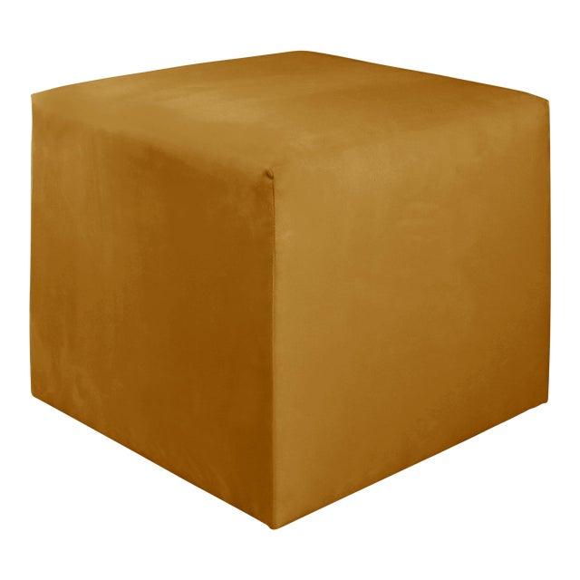 Not Yet Made - Made To Order Monaco Citronella Cube Ottoman For Sale - Image 5 of 5