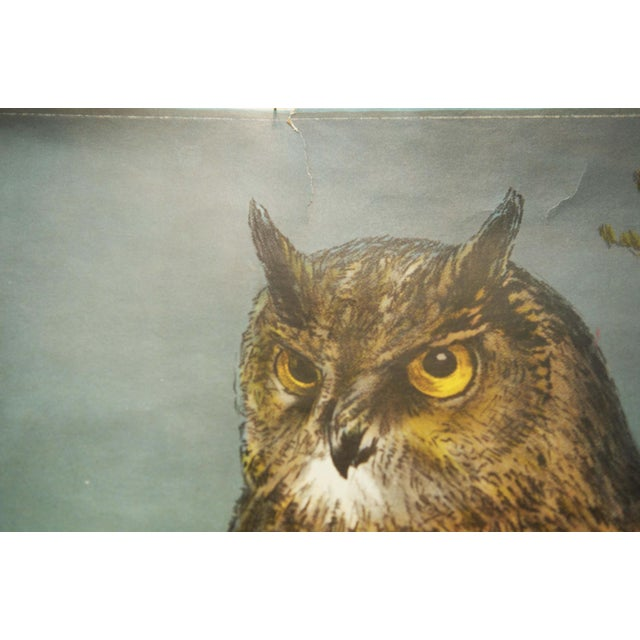 This school was painted by Nils Tirén in 1931 and produced in Sweden in the 1960s. It displays an owl. PLEASE ADD PROPER...