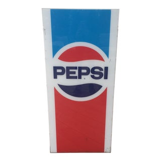 Vintage Pepsi Sign For Sale