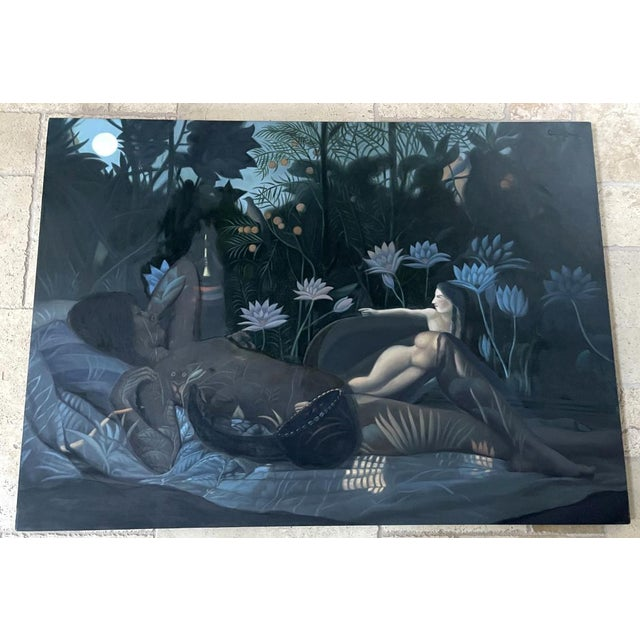 Oil Painting on Canvas by Yang Qian For Sale In Atlanta - Image 6 of 13