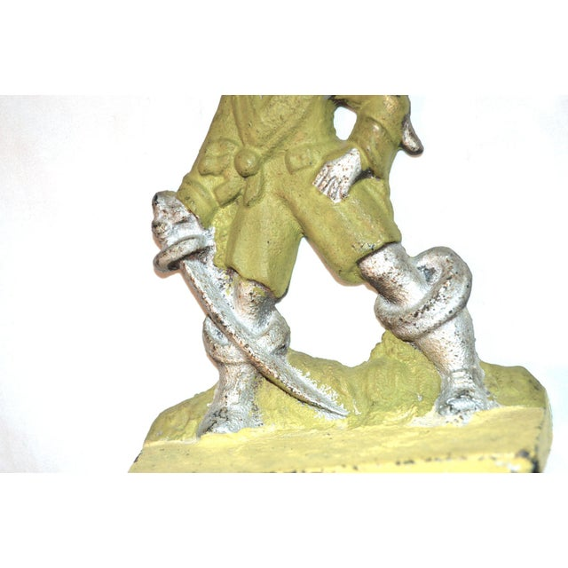 1920s Pirates With Parrots Painted Bookends - A Pair For Sale - Image 9 of 10