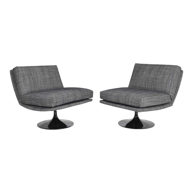 Adrian Pearsall for Craft Associates Swivel Chairs For Sale