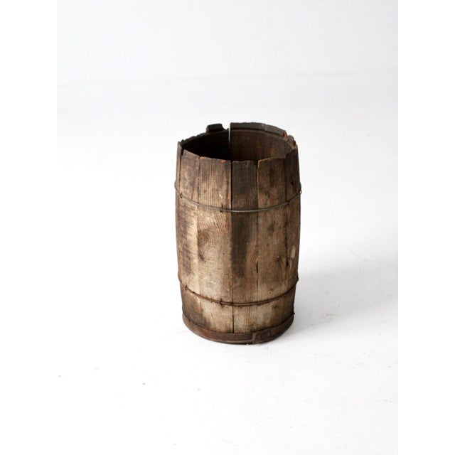 Antique Rustic Wooden Barrel Chairish