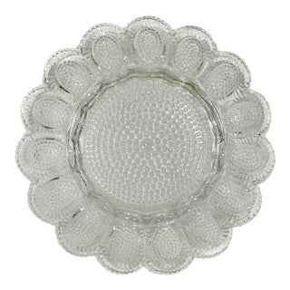 Hobnail Glass Deviled Egg Plate For Sale
