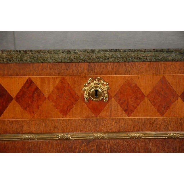 Late 19th Century Swedish Marble Top Marquetry Commode For Sale - Image 5 of 5
