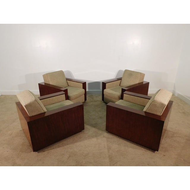 Henredon Ralph Lauren Rosewood Metropolis Collection Club Tub Deck Chairs- A Pair For Sale - Image 11 of 13