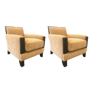 Pair Art Deco Style Lounge Chairs For Sale