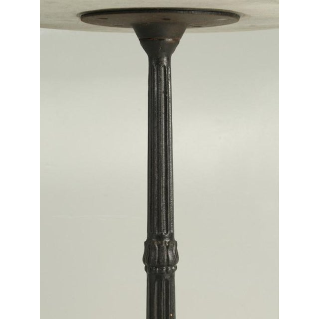 French Bistro Table With Cast Iron Base For Sale In Chicago - Image 6 of 11